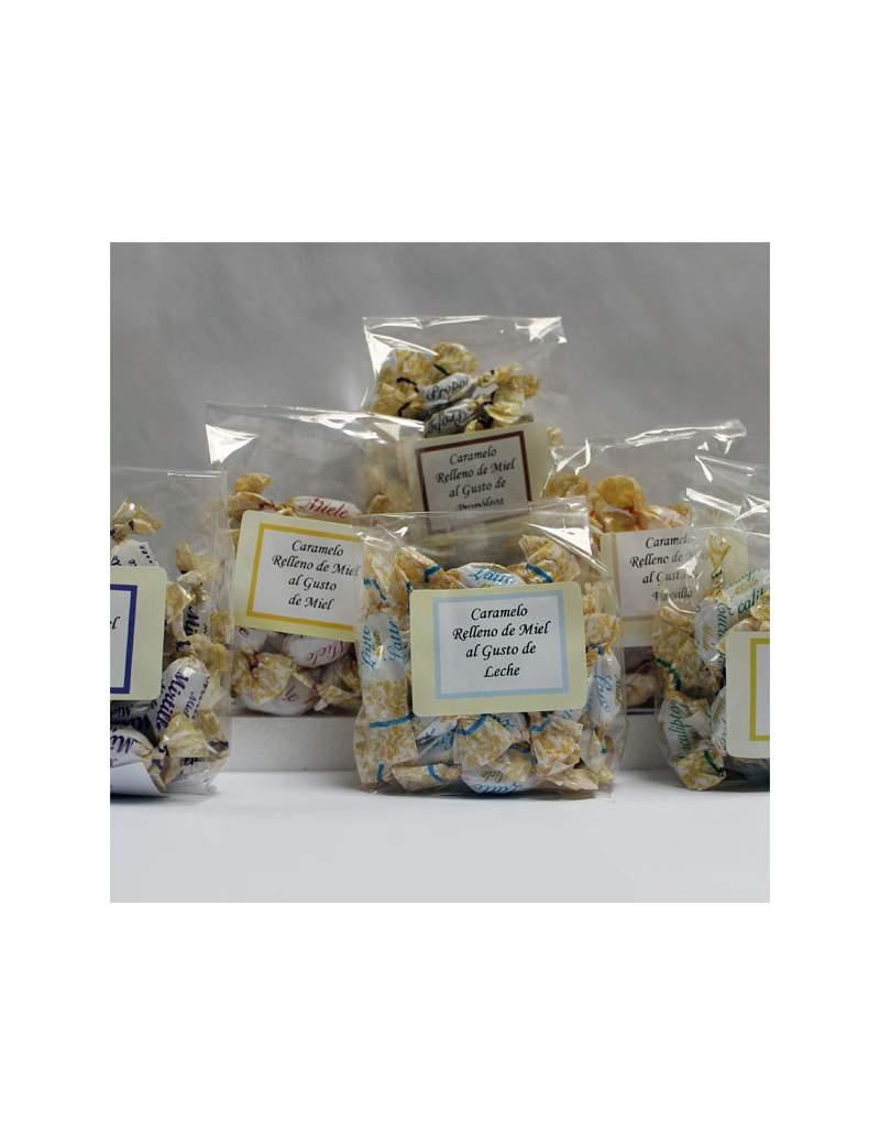 Bolsa de Caramelos Rellenos de Miel. Bolsa 125 grs